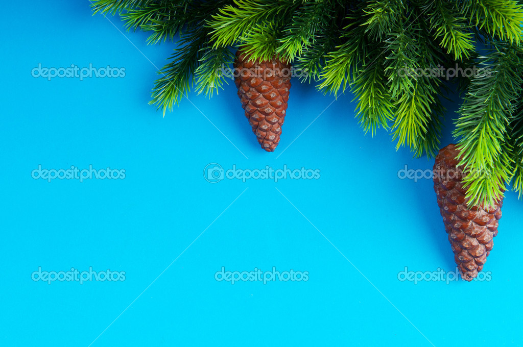 Fir tree and christmas decoration — Stock Photo #7135671