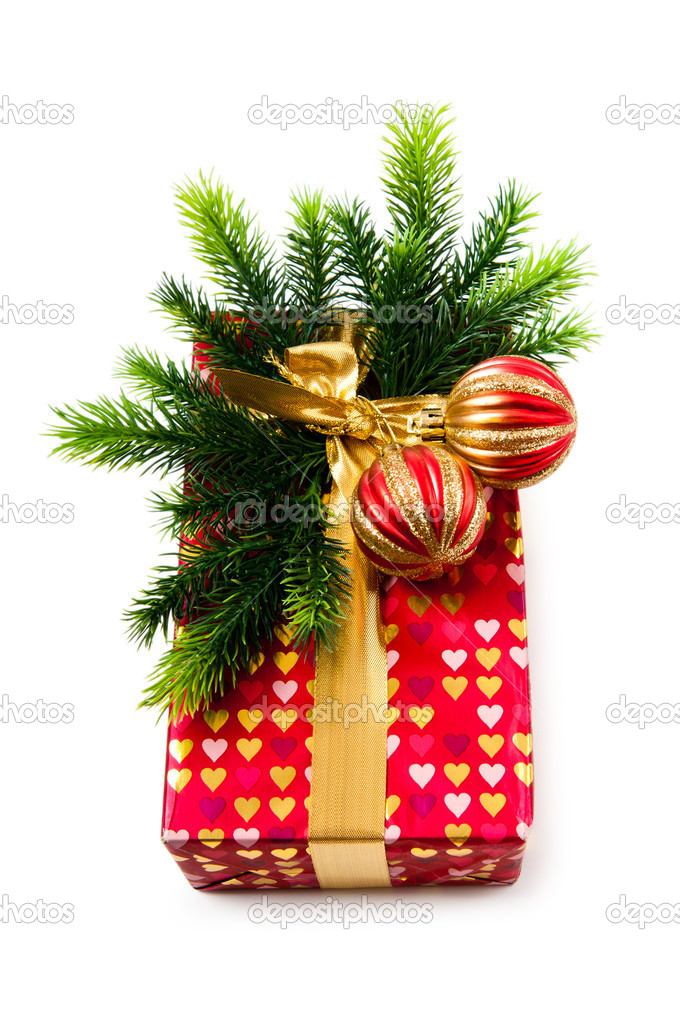 Christmas concept with decoration and giftbox  Stock Photo #7135694