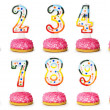 Birthday candles isolated on the white — Stock Photo