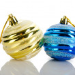 Christmas concept with baubles on white — Stock Photo #7207599