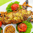 Lamb leg served in the plate — Stock Photo #7208579