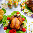 Table served with tasty meals — Stock Photo #7208627