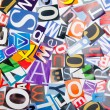 Cut letters from newspapers and magazines - Stockfoto