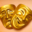 Masks with the theatre concept - Foto de Stock