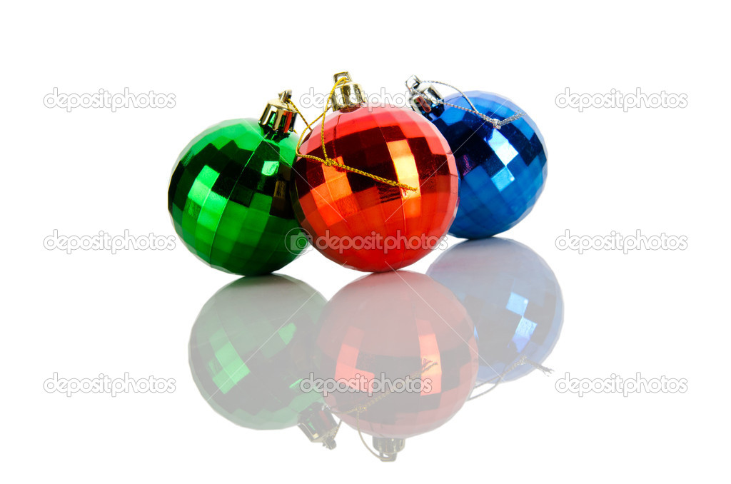 Christmas concept with baubles on white — Stock Photo #7207506