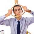 Businessman with thoughts of suicide — Stock Photo #7312466