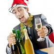 Drunken businessman after office christmas party — Stock Photo #7312488