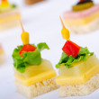 Selection of various canape — Stock Photo #7315267