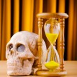 Concept of death with hourglass and skull — Stock Photo #7315866