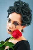 Woman depicting the concept og Evil (Medusa Gorgon) — Stock Photo