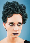 Woman depicting the concept og Evil (Medusa Gorgon) — Stock Photo