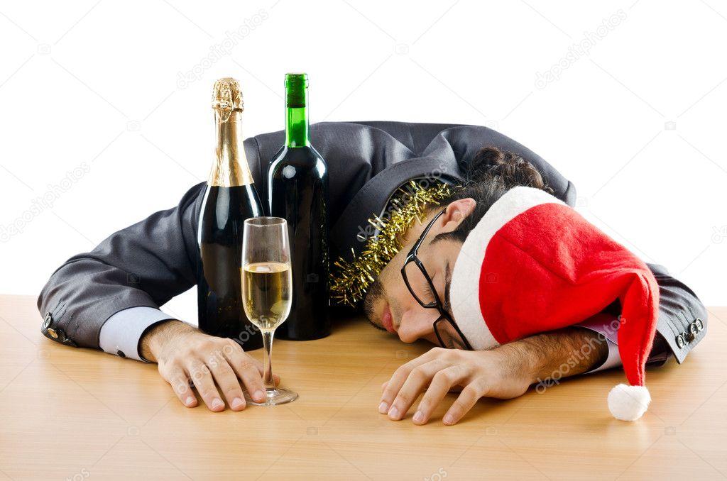 betrunkene gesch ftsmann nach b ro weihnachtsfeier. Black Bedroom Furniture Sets. Home Design Ideas