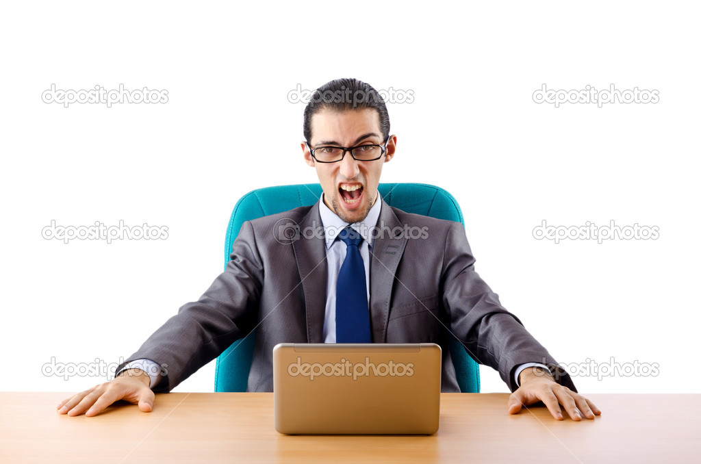 Businessman sitting at the desk — Stock Photo #7314404