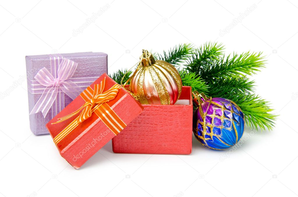 Christmas decoration on white background — Stock Photo #7315939