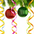 Christmas decoration on the white — Foto de stock #7323170