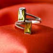 Fashion concept with ring on background — Stok fotoğraf