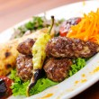 Meat cuisine - kebab served in plate — Stock Photo #7375191