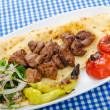 Kebab served in the plate — Stock Photo #7375763