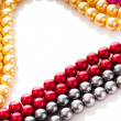 Abstract with colourful pearl necklaces — Stock Photo #7376939