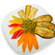 Grilled vegetables served in the plate - Stock Photo