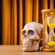Concept of death with hourglass and skull — Stock Photo #7384375
