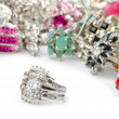 Selection of many precious rings — Stock Photo #7385631