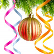 Christmas decoration on the white — Stockfoto