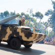 Stock Photo: BAKU - 26 June 2011 - Miliatary Parade in Baku, Azerbaijon Ar