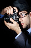 Paparazzi trying to take picture — Stock Photo