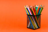 Back to school concept with colourful pencils — Stock Photo