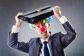 Clown Geschäftsmann in Funny Business Konzept — Stockfoto