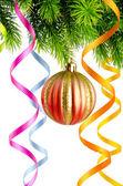 Christmas decoration on the white — Stock Photo