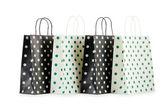 Sacos de compras, isolados no branco — Foto Stock