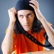 Stockfoto: Young druc addict with syringe