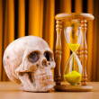 Concept of death with hourglass and skull — Stock Photo #7515945