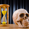 Concept of death with hourglass and skull — Stock Photo #7515948