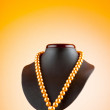 Stock Photo: Stand with necklace in fashion concept