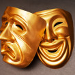 Masks with the theatre concept — Stock Photo #7519896