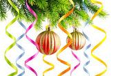 Christmas decoration on the white — Zdjęcie stockowe