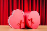 Heart shaped gift box against background — Stockfoto