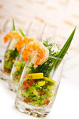 Prawns in the glass — Stock Photo