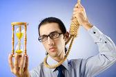 Man with noose around his neck — Stock Photo