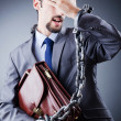 Arrested businessman in studio shooting — Stock Photo #7521105