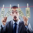 Criminal laundering dirty money — Stock Photo #7521503
