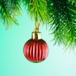 Baubles on christmas tree in celebration concept — Stock Photo #7521656