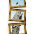 Picture frames with statue of liberty - 图库照片