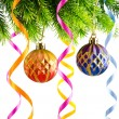 Holiday christmas decoration on white — Stock Photo #7534733