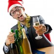 Drunk office worker after christmas party — Stock Photo #7534847