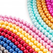 Abstract with colourful pearl necklaces — Stock Photo #7549094
