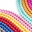 Stock Photo: Abstract with colourful pearl necklaces